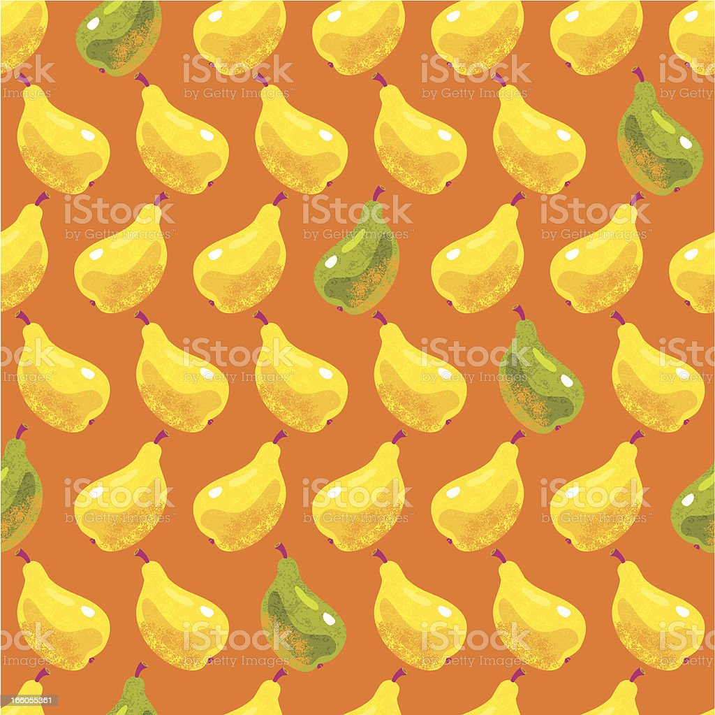 Yellow and Green Pears Seamless Pattern royalty-free stock vector art