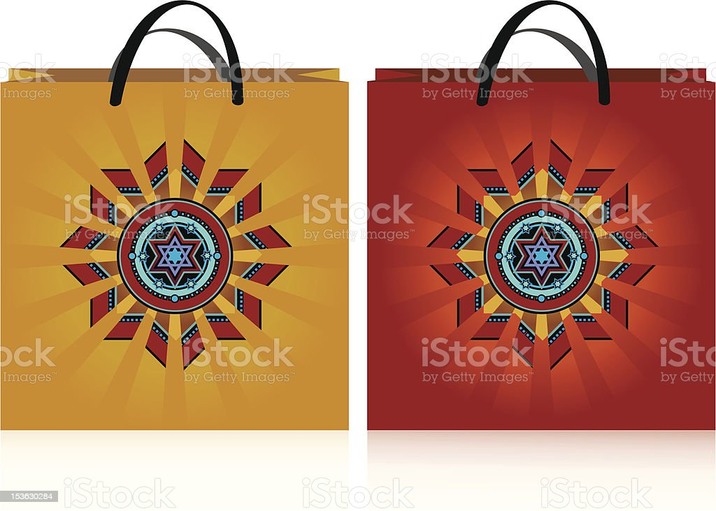yellow and red bags royalty-free stock vector art