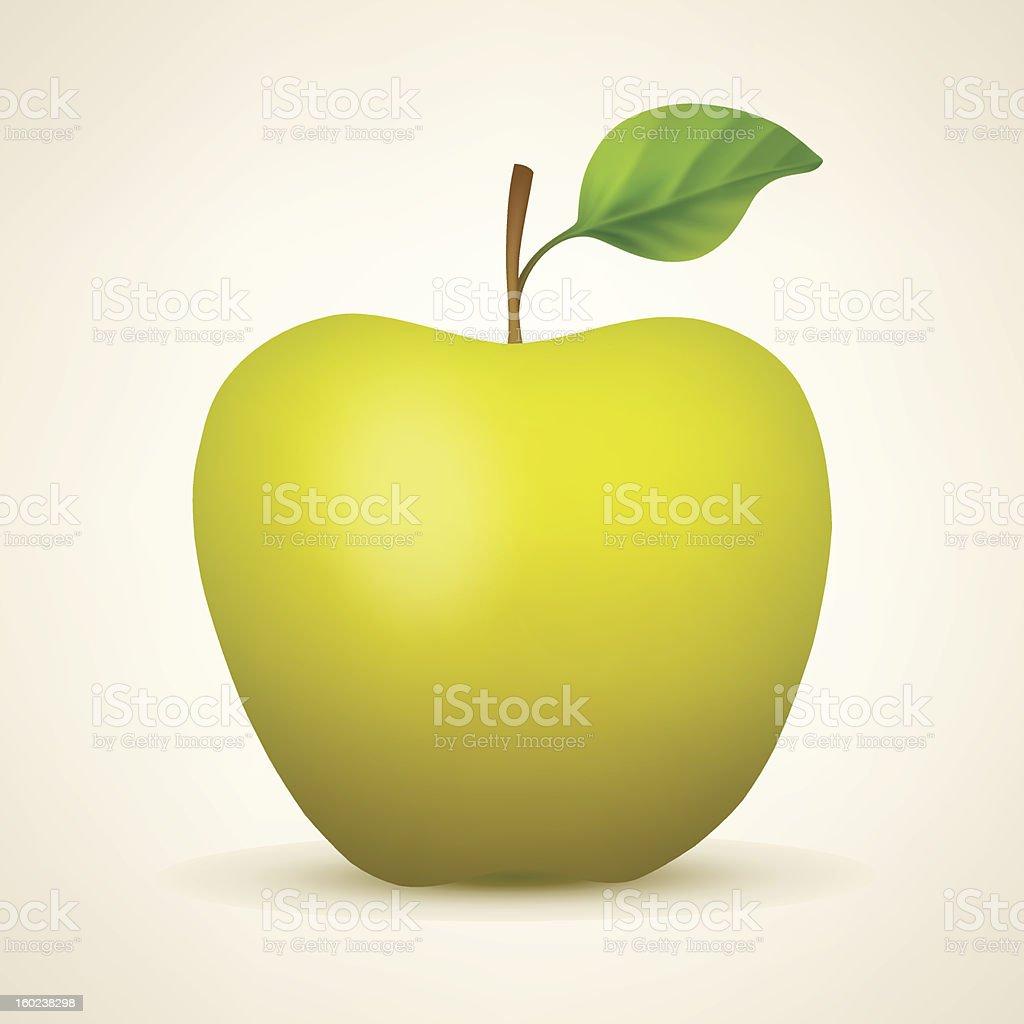 Yellow apple royalty-free stock vector art
