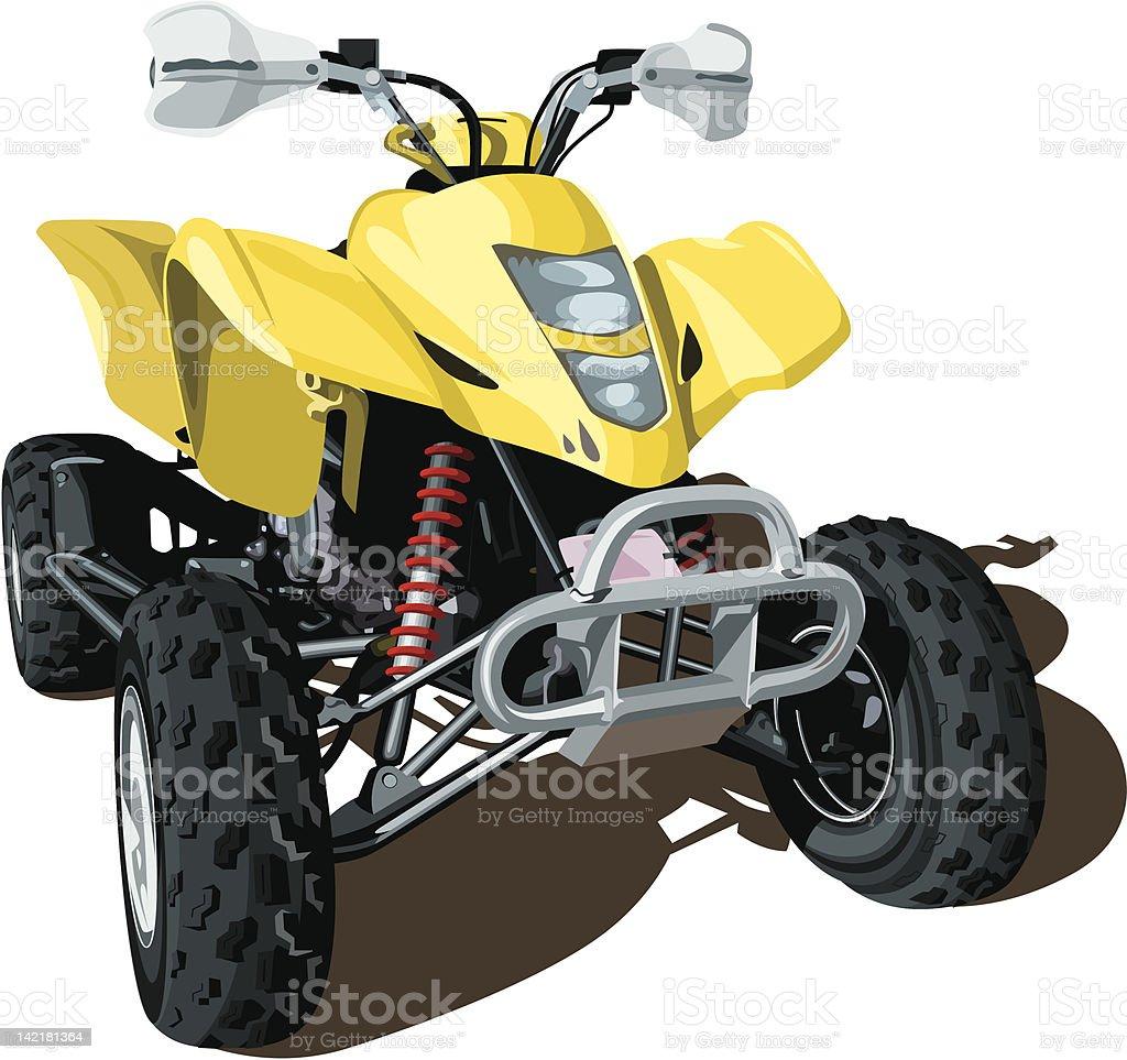 Yellow ATV royalty-free stock vector art