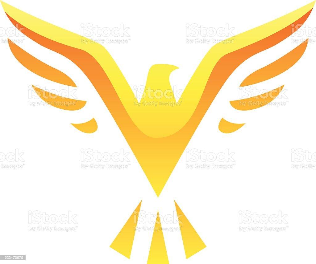 Oiseau jaune icône stock vecteur libres de droits libre de droits