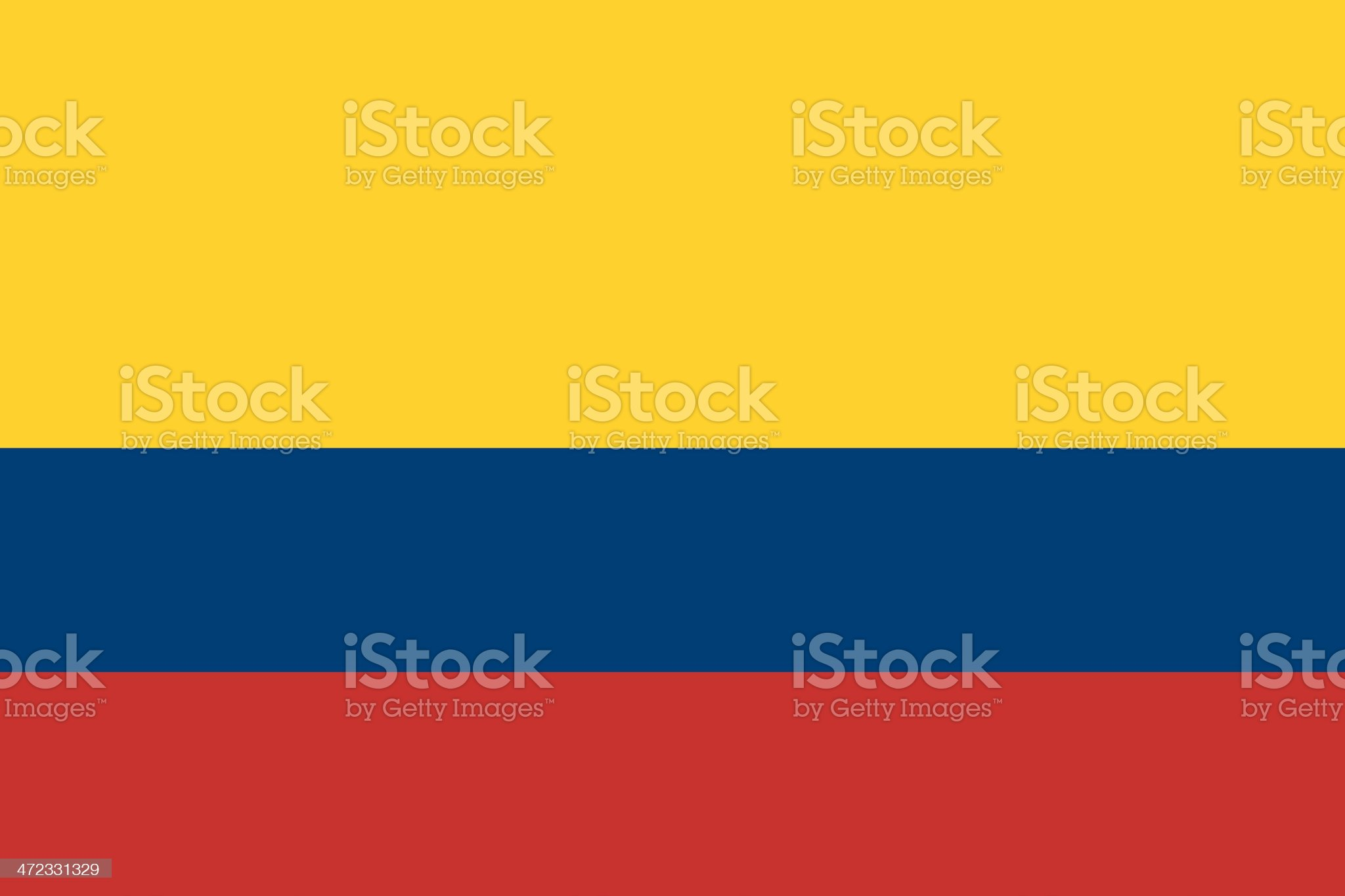 Yellow, blue, and red striped Colombian flag royalty-free stock vector art