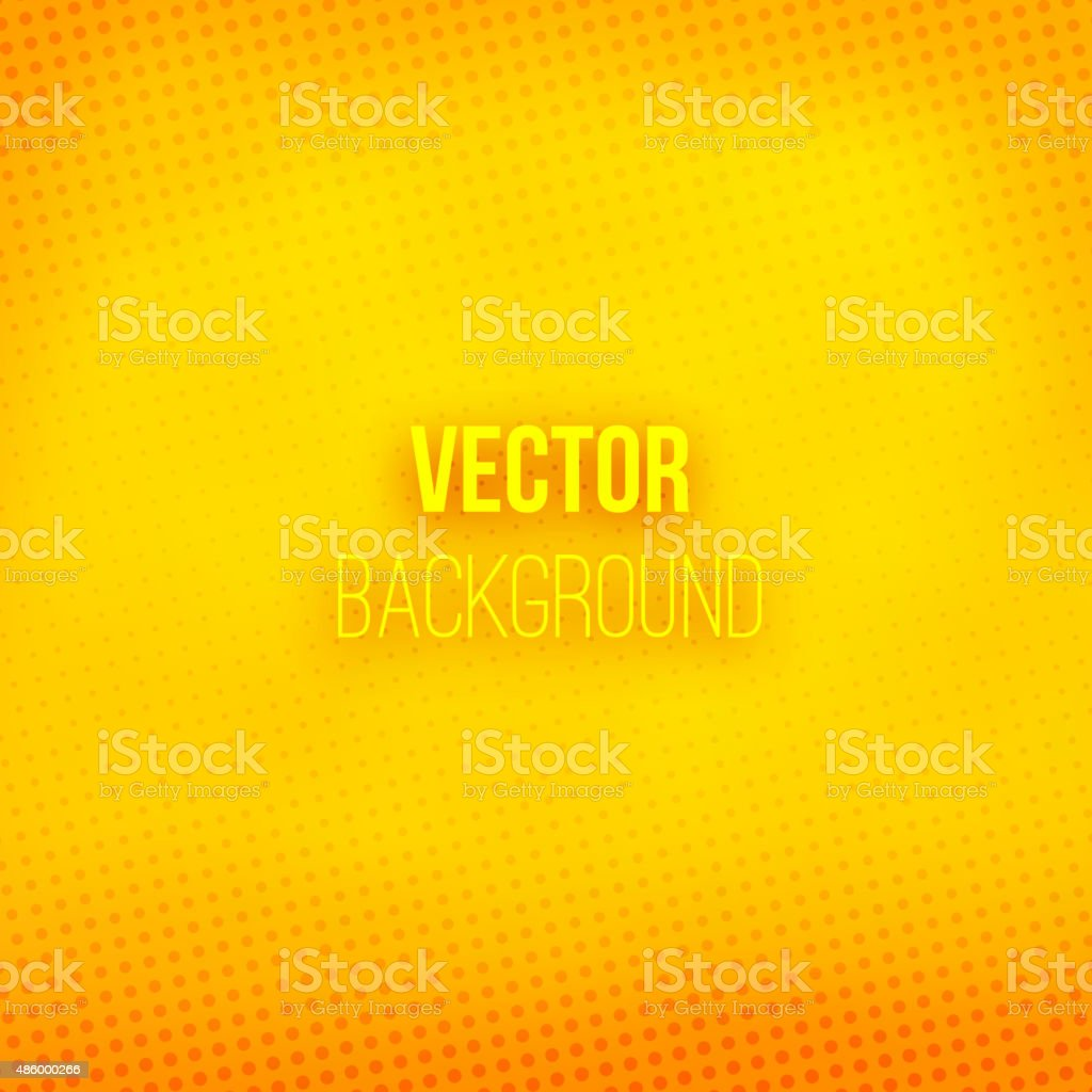 Yellow Blurred Background With Halftone Effect vector art illustration