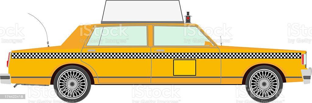 Yellow cab royalty-free stock vector art
