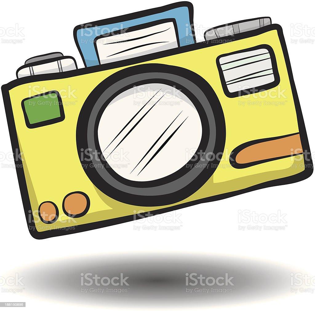 yellow camera royalty-free stock vector art