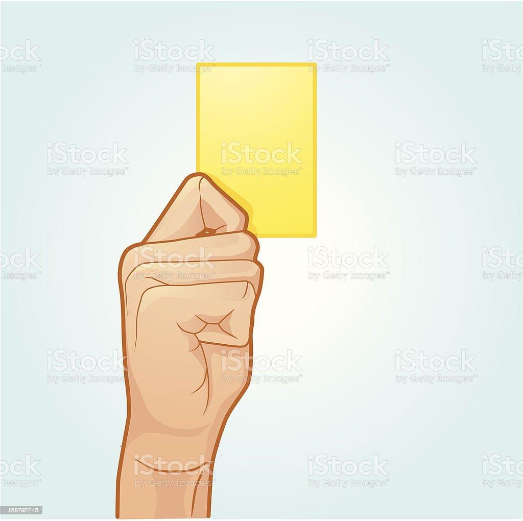 Yellow Card vector art illustration