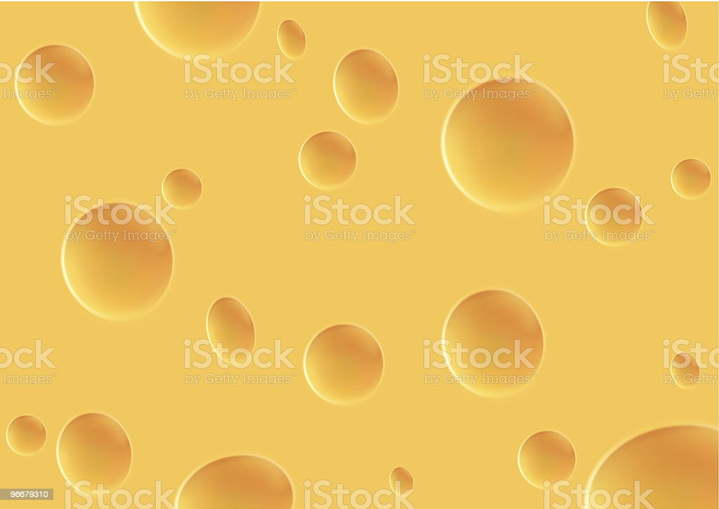 yellow cheese with holes texture vector art illustration