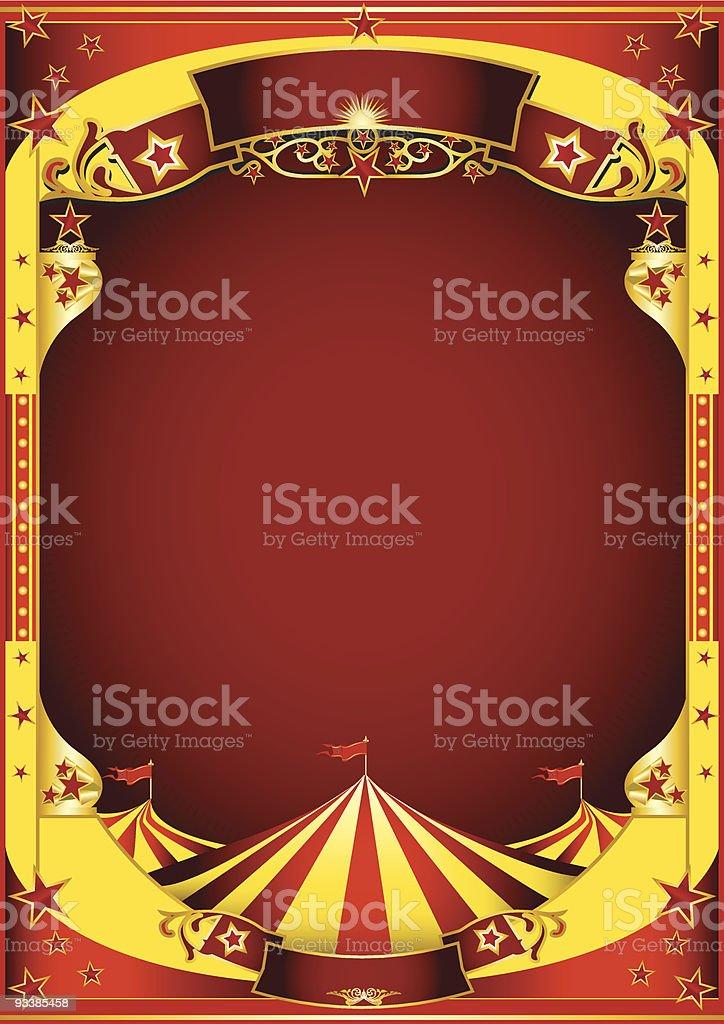 Yellow circus with big top royalty-free stock vector art
