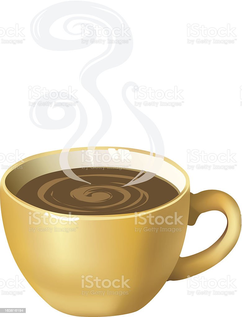 Yellow coffee cup royalty-free stock vector art