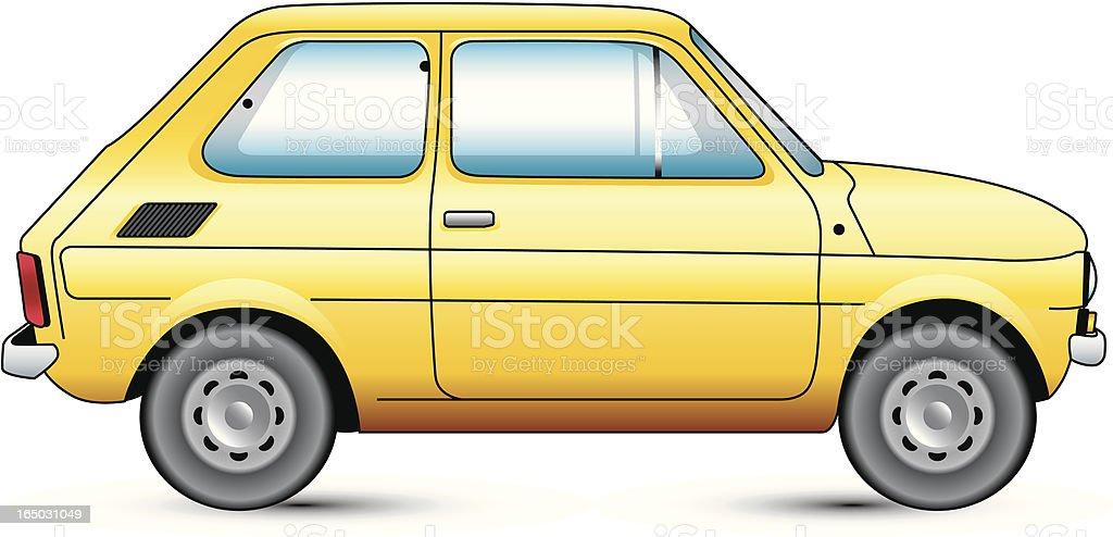 Yellow Compact Car royalty-free stock vector art