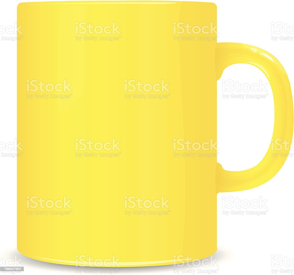 yellow cup royalty-free stock vector art