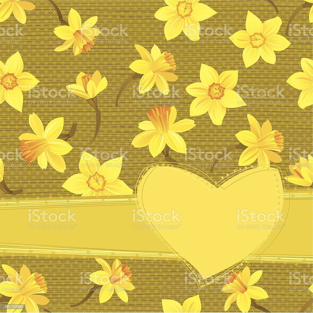 Yellow Daffodils Invitation royalty-free stock vector art