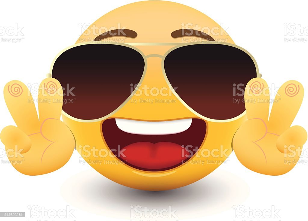Yellow emoticon cartoon character eps 10 vector vector art illustration