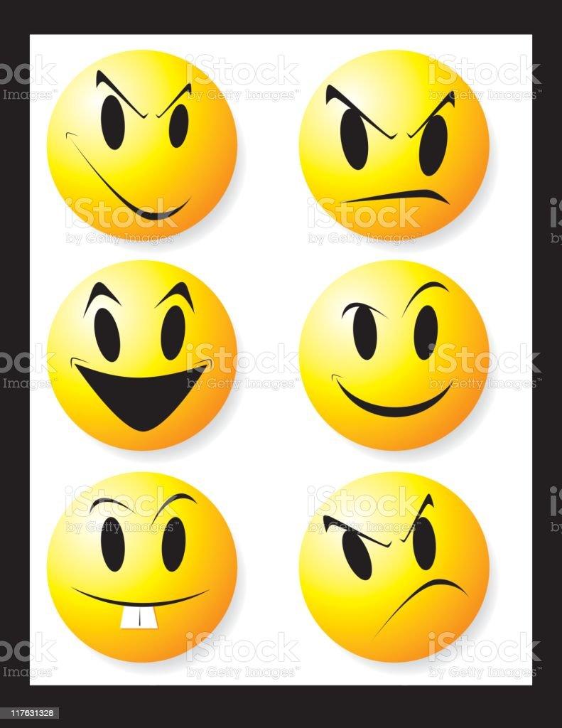 Yellow Faces royalty-free stock vector art