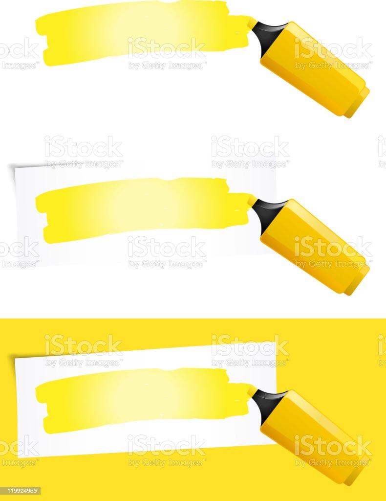 Yellow Felt Tip Pen royalty-free stock vector art