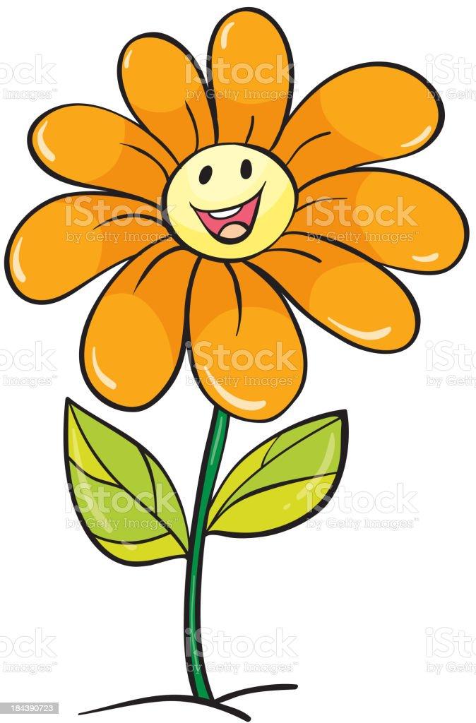 yellow flower royalty-free stock vector art