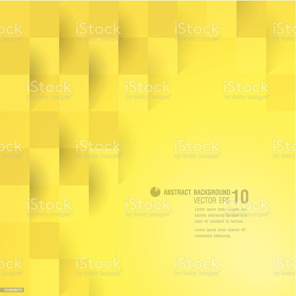 Yellow geometric background. vector art illustration