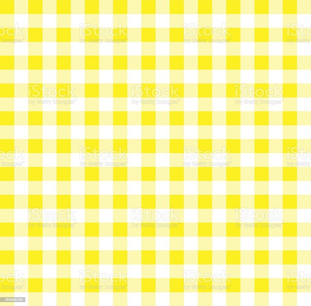 Yellow Gingham vector art illustration