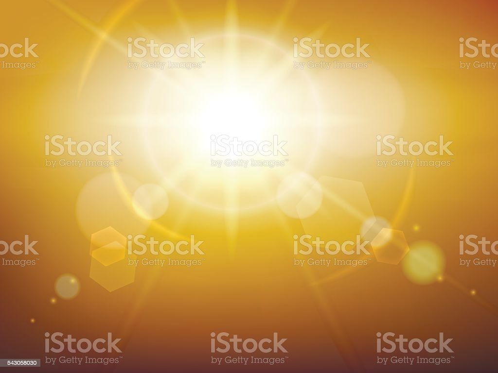 Yellow glow sunshine vector art illustration