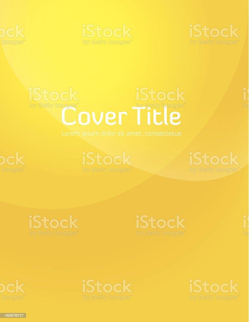 Yellow Gradient Cover vector art illustration