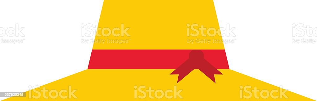 Yellow hat vector illustration. vector art illustration