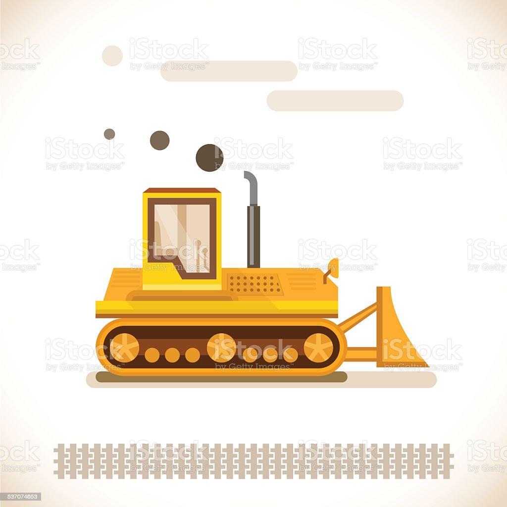 Yellow heavy crawler vector illustration. vector art illustration