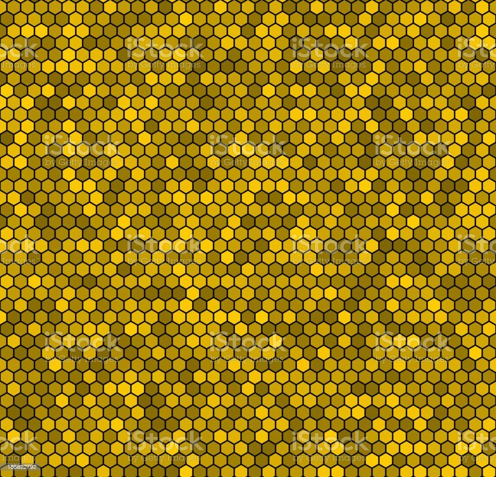 Yellow honeycomb vector background. royalty-free stock vector art