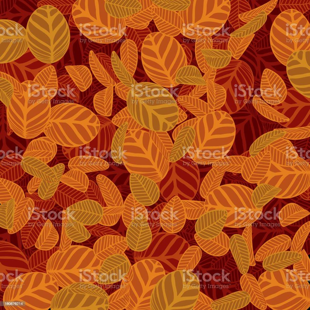 yellow leaf pattern background vector art illustration