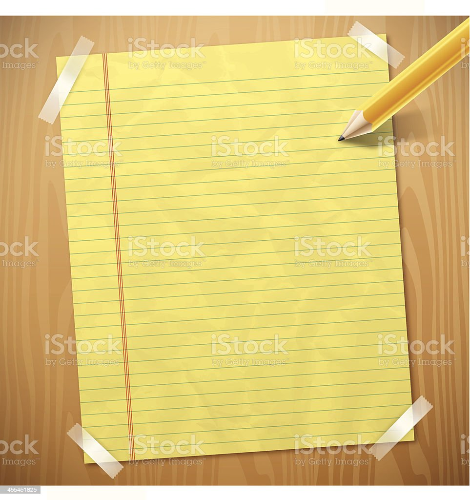 Yellow Legal Paper royalty-free stock vector art