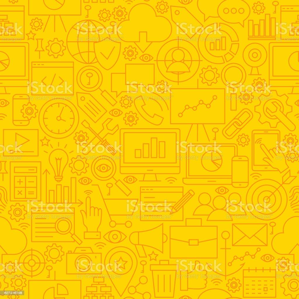 SEO Yellow Line Tile Pattern royalty-free stock vector art