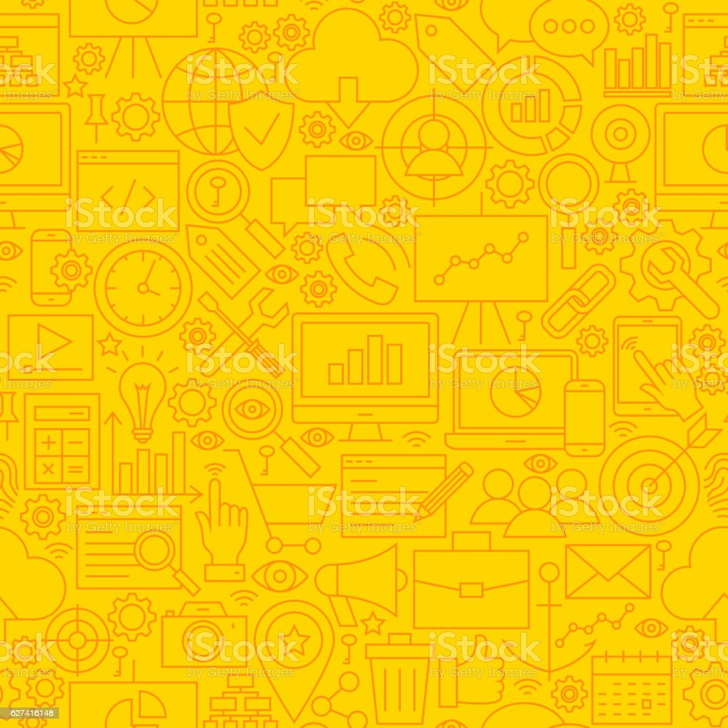 SEO Yellow Line Tile Pattern vector art illustration