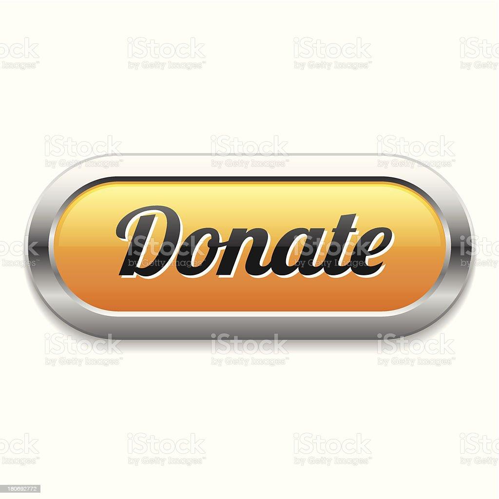 Yellow long donate button royalty-free stock vector art