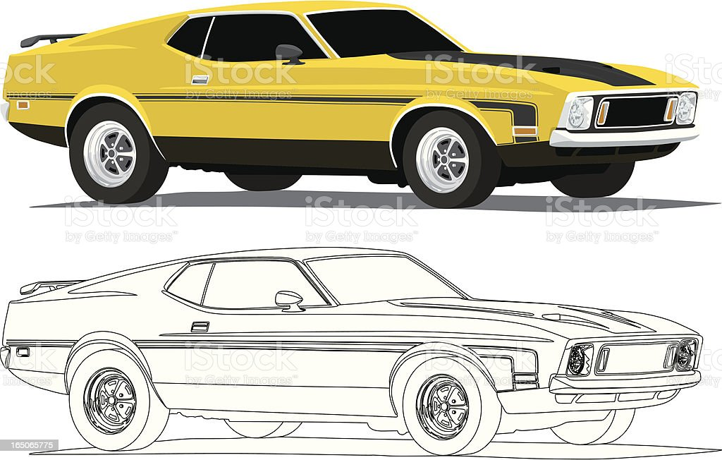 Yellow Mach1 vector art illustration