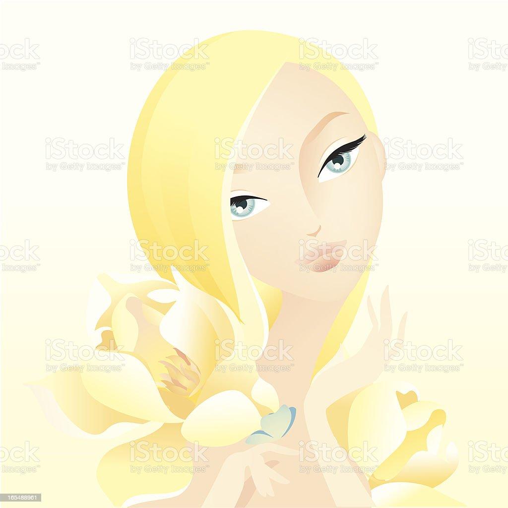 Yellow Magnolia royalty-free stock vector art