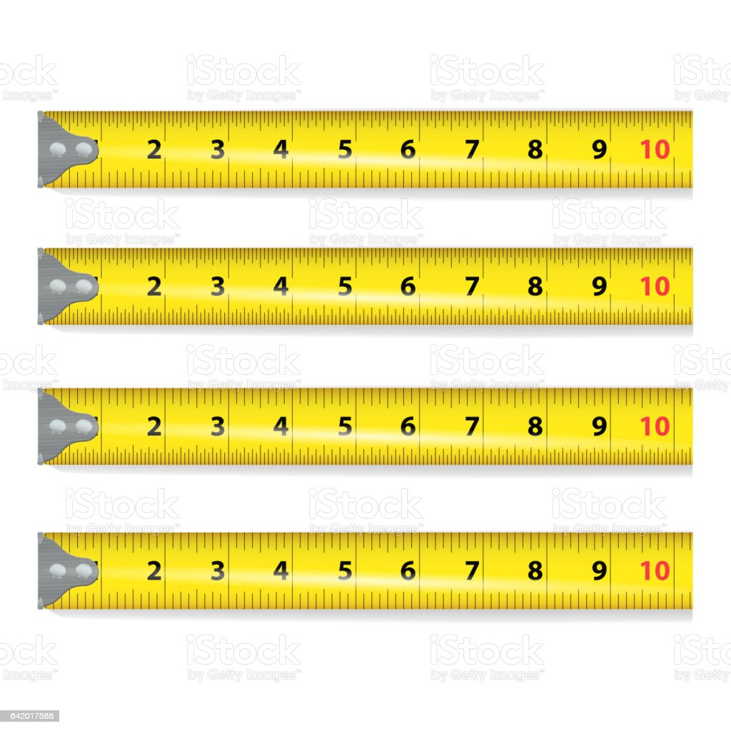 Vector of tape measure border a page border created from a rag tape - Yellow Measure Tape Vector Centimeter And Inch Measure Tool Equipment Illustration Isolated On White