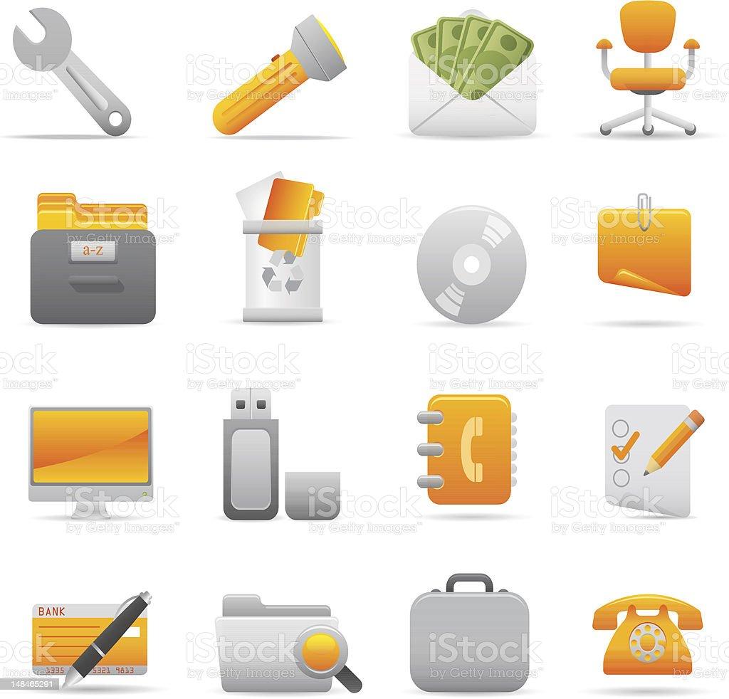 Żółty Biuro ikony stockowa ilustracja wektorowa royalty-free