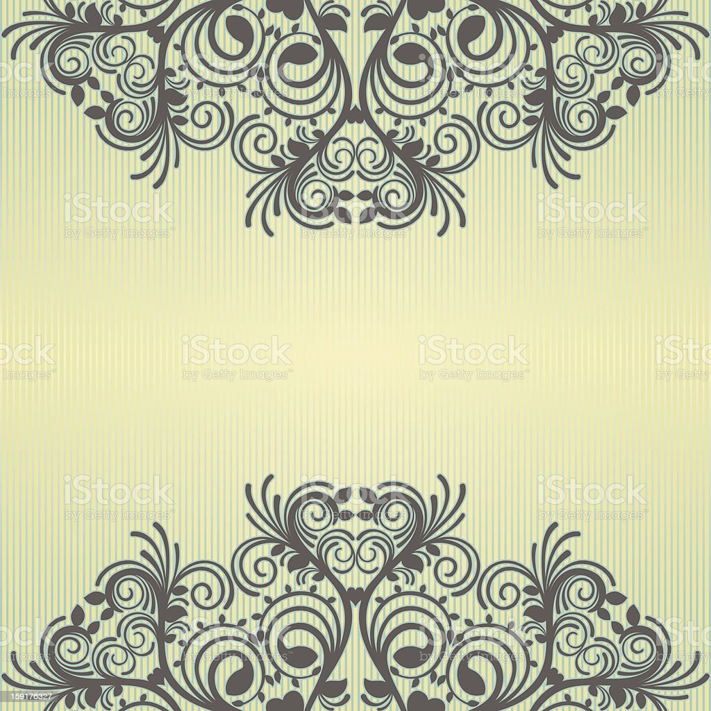 yellow ornamental background royalty-free stock vector art