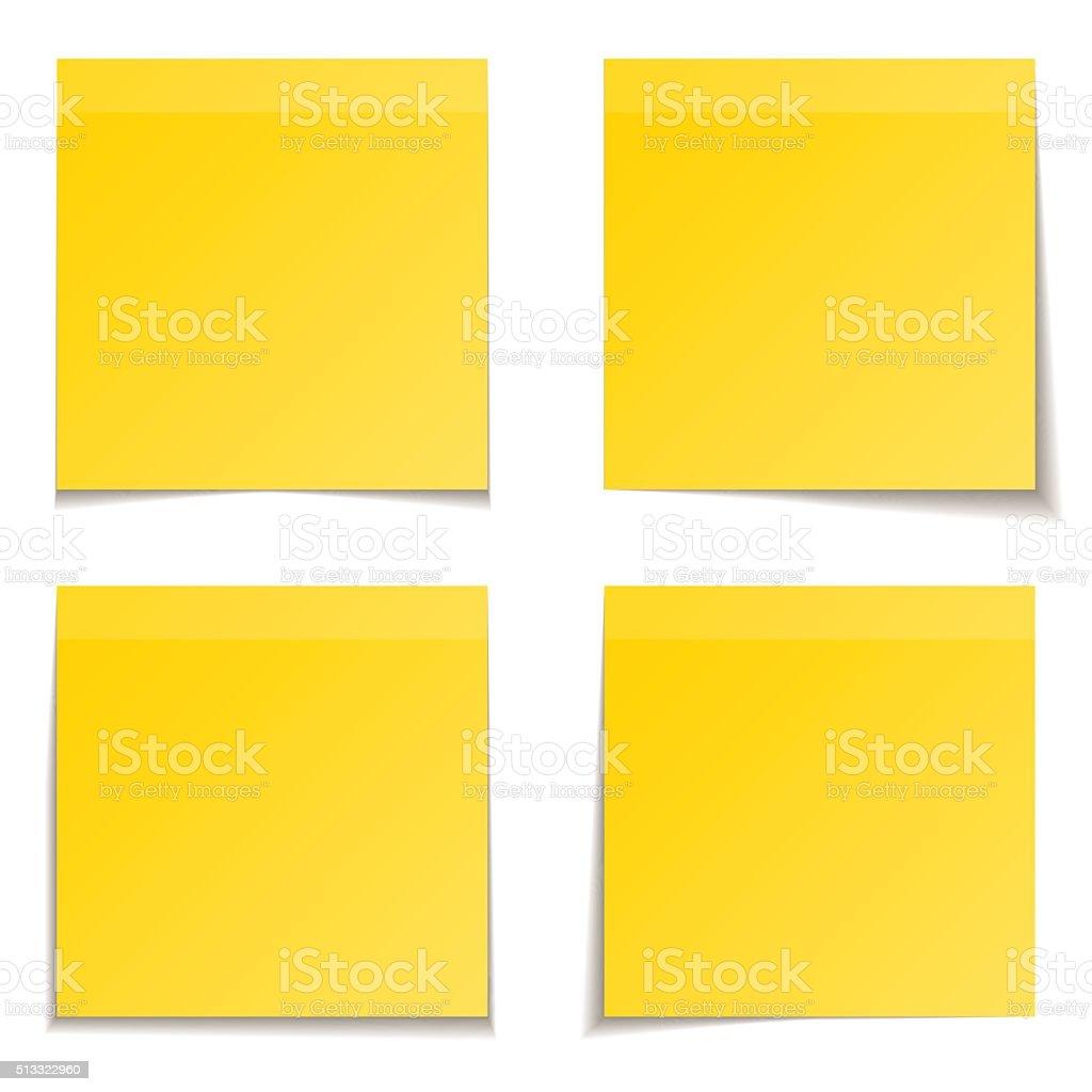 yellow paper vector art illustration