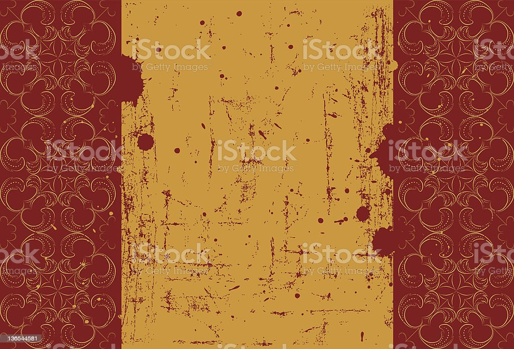 Yellow pattern royalty-free stock vector art
