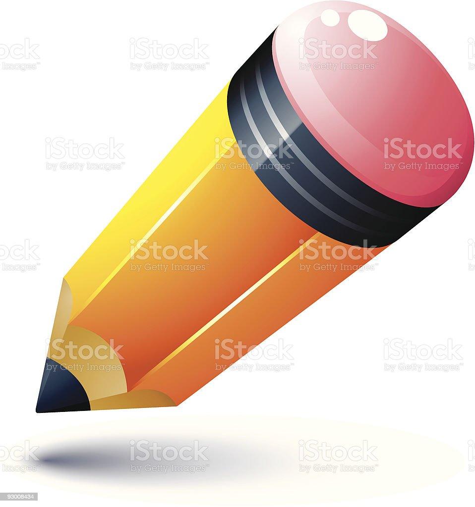 yellow pencil royalty-free stock vector art