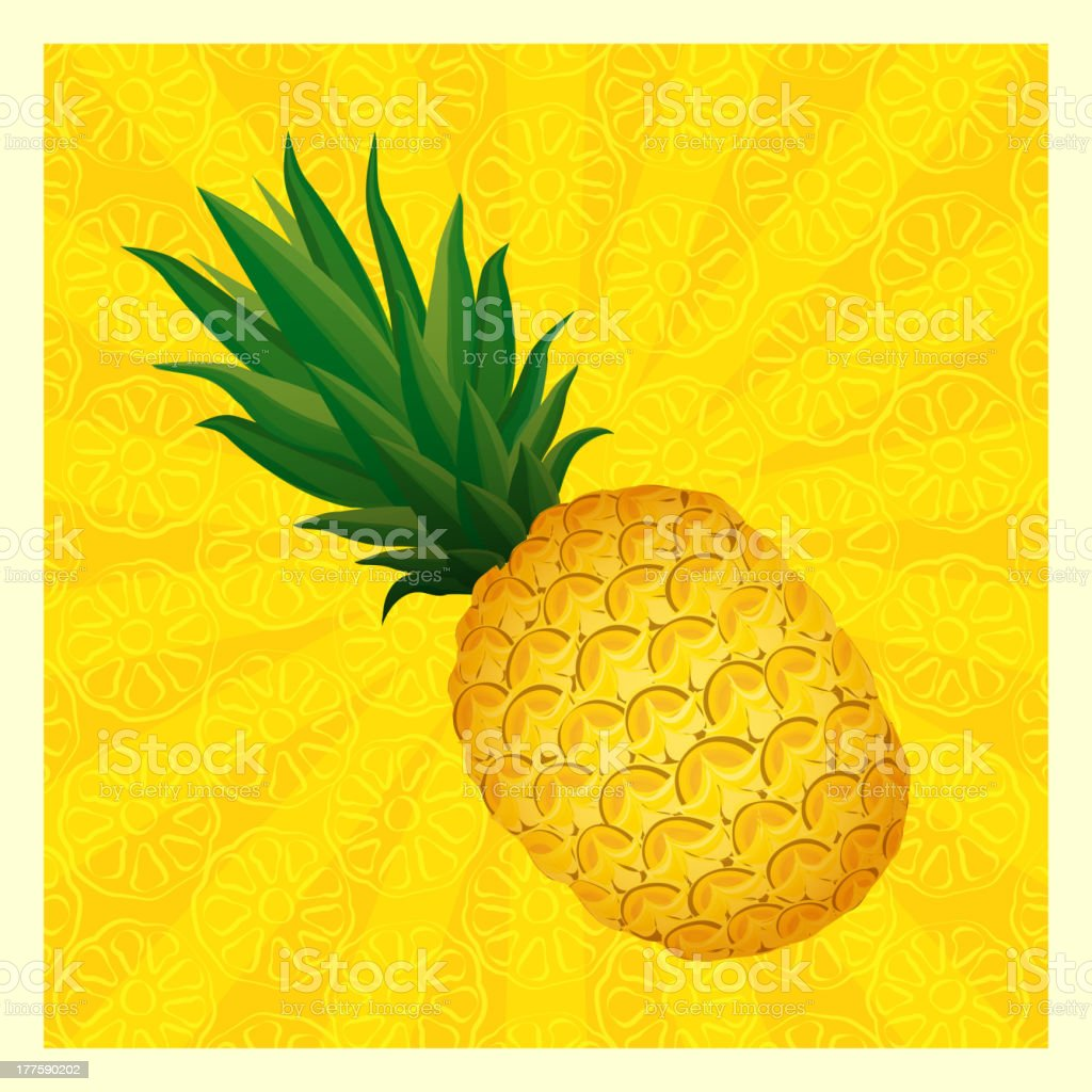 yellow pineapple background royalty-free stock vector art