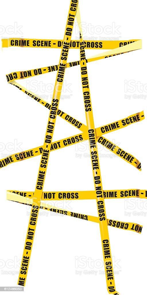 Yellow Police Tape vector art illustration