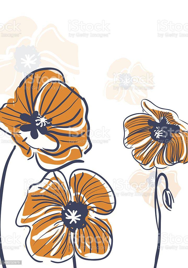 Yellow poppies royalty-free stock vector art