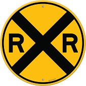 Yellow Rail Sign