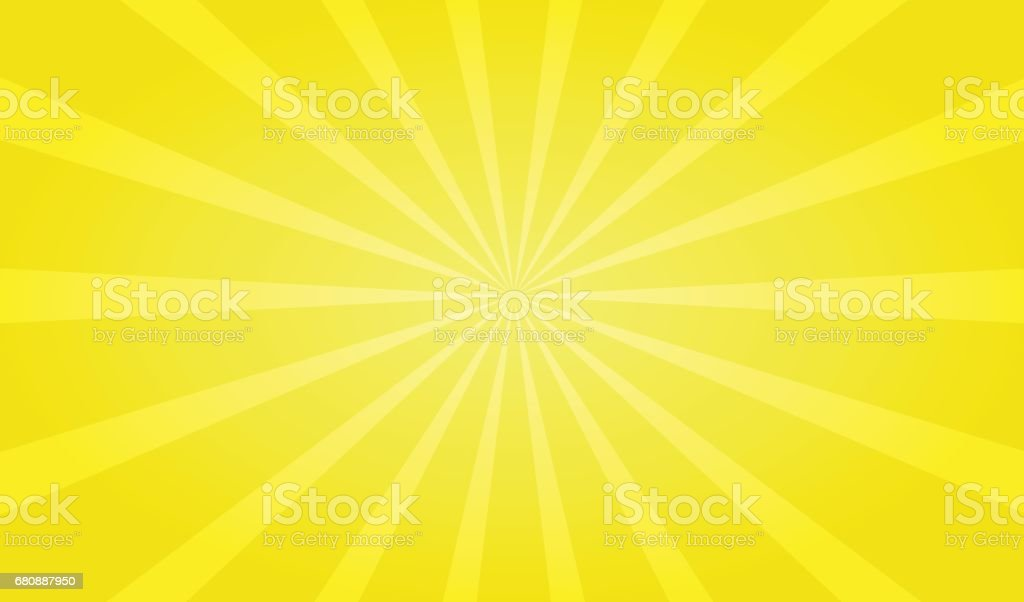 Yellow ray zoom out background vector art illustration