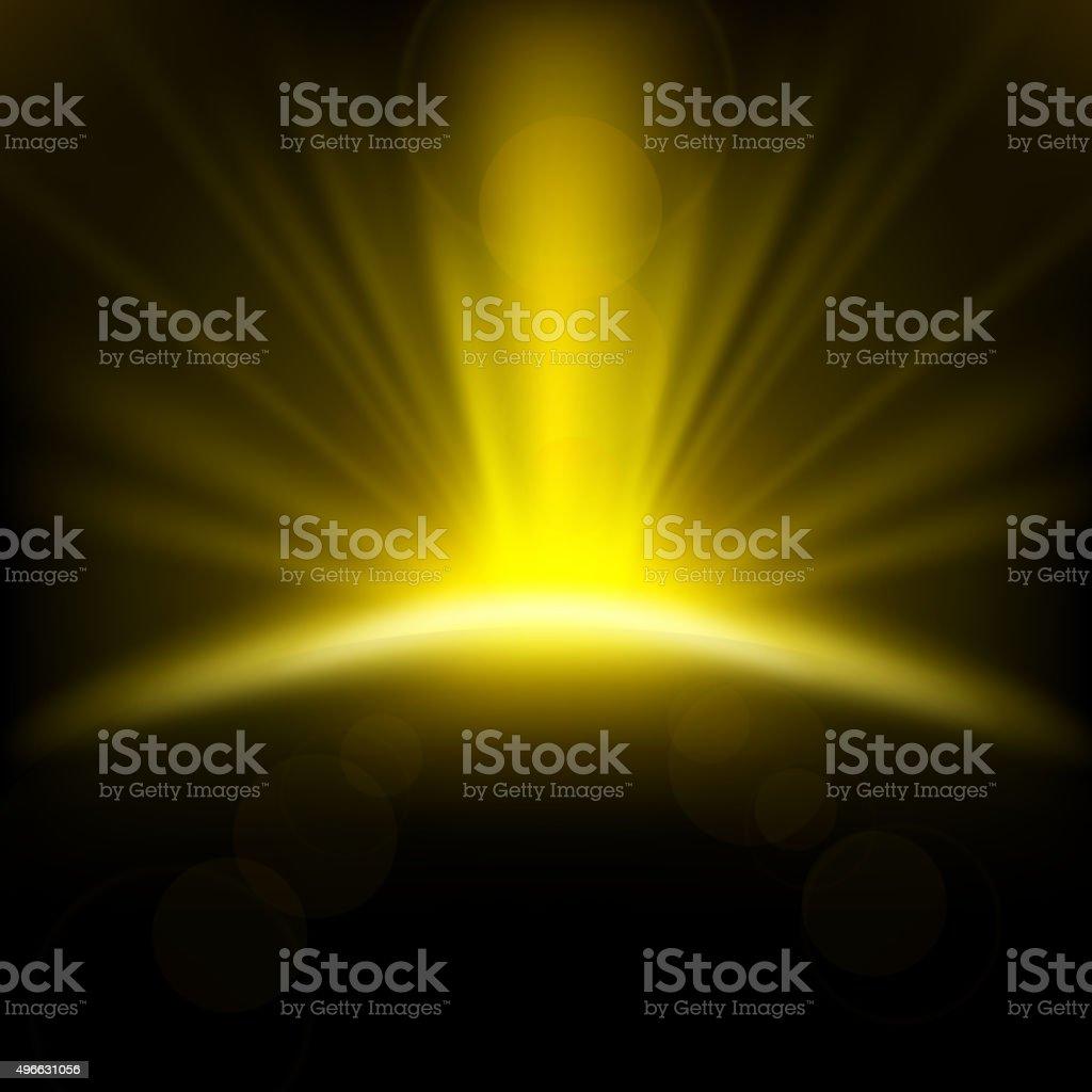 Yellow Rays rising background vector art illustration