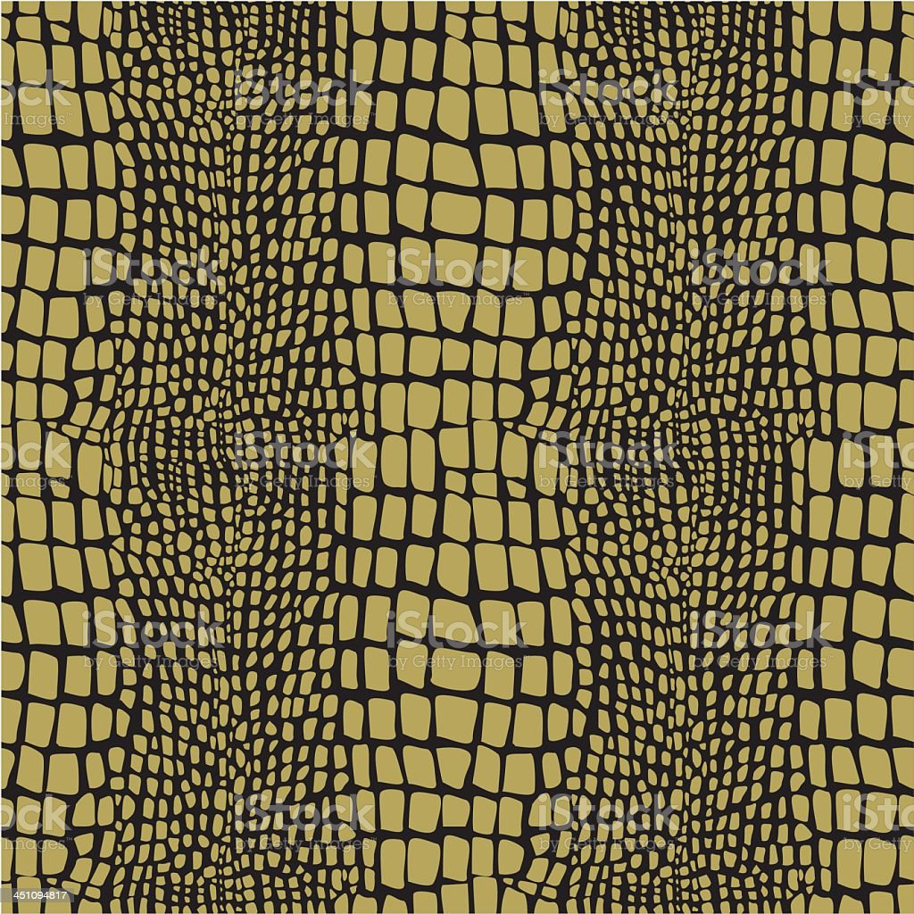A yellow reptile skin seamless pattern vector art illustration