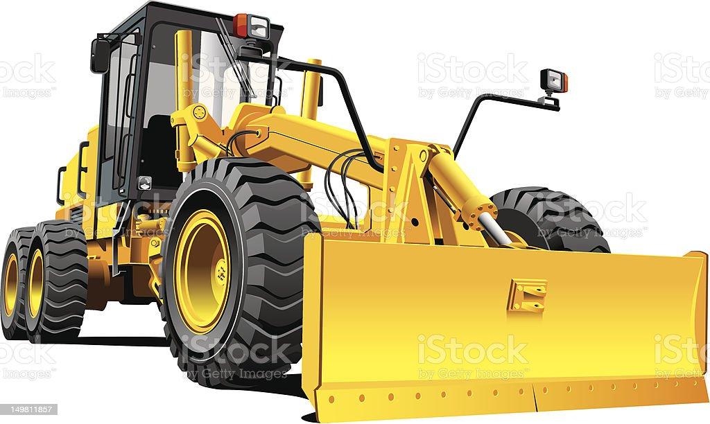 yellow roadgrader royalty-free stock photo
