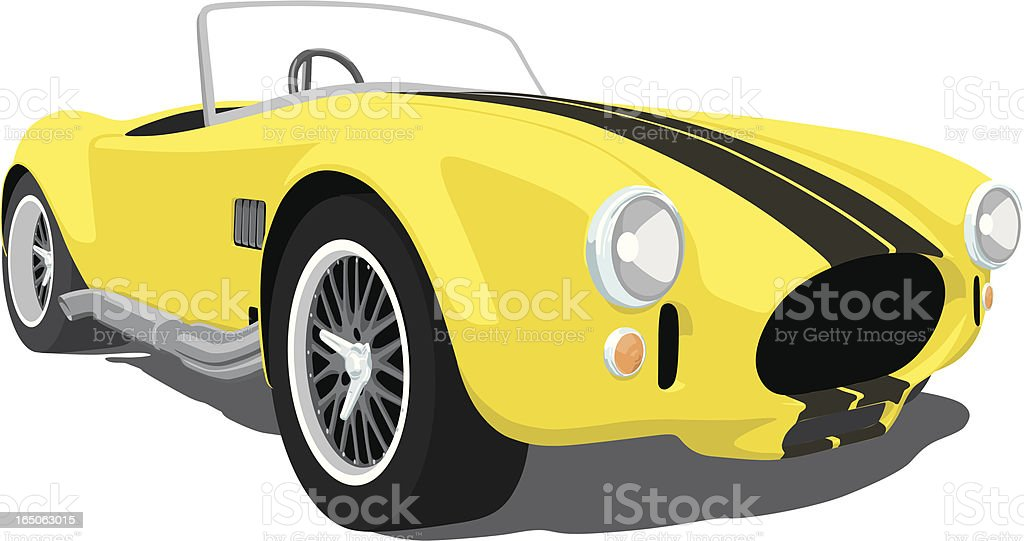 Yellow Shelby Cobra vector art illustration