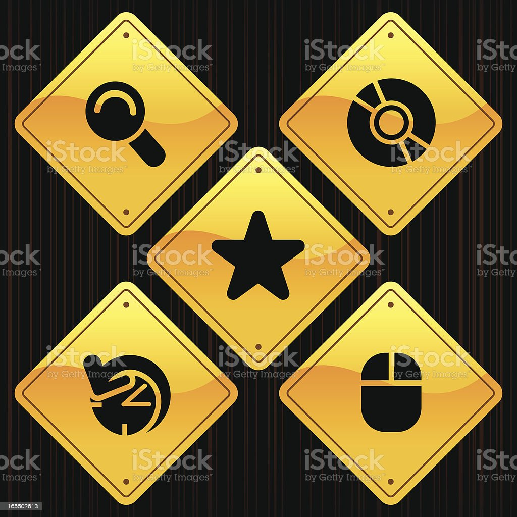 Yellow Signs - Internet royalty-free stock vector art